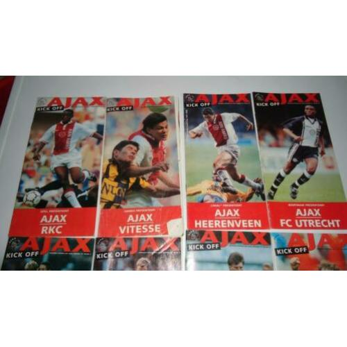 Ajax kick off programma blad