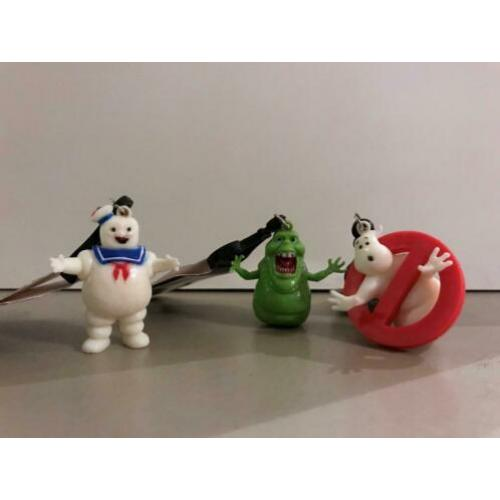 Ghostbusters Sleutelhangers; Slimer - Stay Puft - GB Logo
